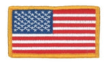 U.S. FLAG W/VELCRO - 3-1/4 X 1-13/16 FULL COLOR DARK GOLD