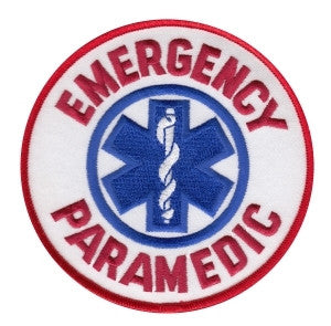 "HERO'S PRIDE EMERGENCY PARAMEDIC  PATCH 4"" CIRCLE FULL COLOR SEW ON"