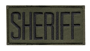 "HERO'S PRIDE SHERIFF PATCH 4"" X 2""-T-Box Tactical"