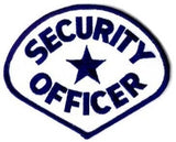 HERO'S PRIDE SECURITY OFFICER  PATCH ROYAL BLUE/WHITE SEW ON