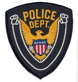 "HERO'S PRIDE POLICE DEPT. W/WHITE SCROLL PATCH 3 5/8"" X 4 3/8""-T-Box Tactical"