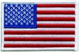 U.S. FLAG SEW ON - 3-1/2 X 2-1/4 FULL COLOR WHITE