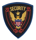 HERO'S PRIDE SECURITY  CHEST PATCH 4 X 4 5/8 ROYAL BORDER  SEW ON