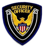 HERO'S PRIDE SECURITY OFFICER  PATCH ROYAL BORDER/BLACK TWILL  SEW ON