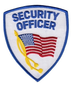 HERO'S PRIDE SECURITY OFFICER W/FLAG PATCH FULL COLOR SEW ON