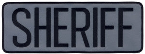 "HERO'S PRIDE SHERIFF PATCH 11"" X 4""-T-Box Tactical"