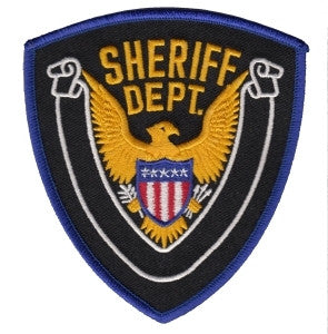 "HERO'S PRIDE SHERIFF DEPT. W/BLANK SCROLL PATCH 4"" X 4 3/8""-T-Box Tactical"