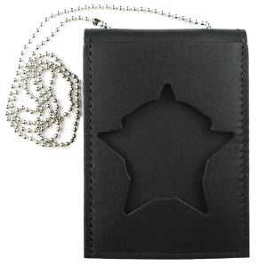 HERO'S PRIDE LEATHER TRIFOLD BADGE CREDIT CARD WALLET W/ID WINDOW