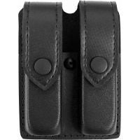 SAFARILAND MODEL 77 DOUBLE MAGAZINE POUCH, LEATHER LOOK, NYLON LOOK
