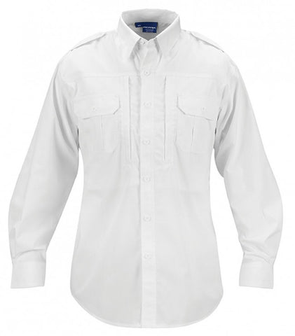 Propper Men's Tactical Shirt - Long Sleeve - Poplin White 2XL-LONG