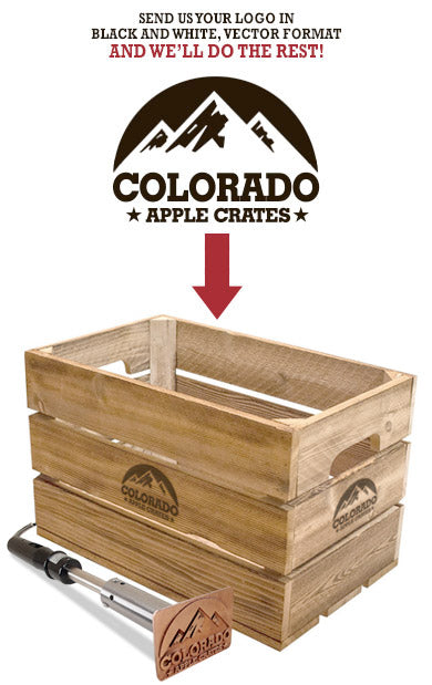 Custom branding iron, the best in the business from Colorado Apple Crates