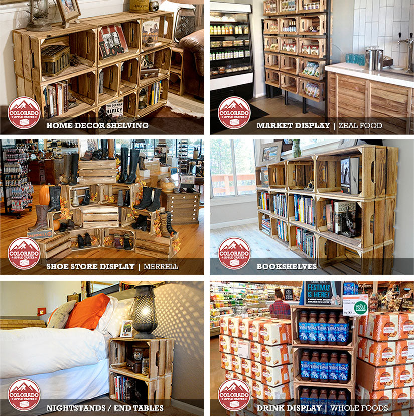 Inspirational ideas for all of your vintage crates from Colorado Apple Crates