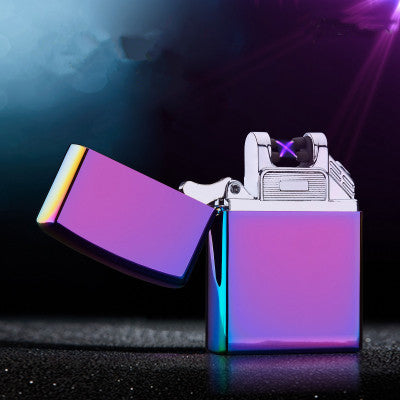 Windproof Flameless Electronic Pulse Arc Cigarette Lighter USB Charging Cigar Lighter Rechargeable No Gas