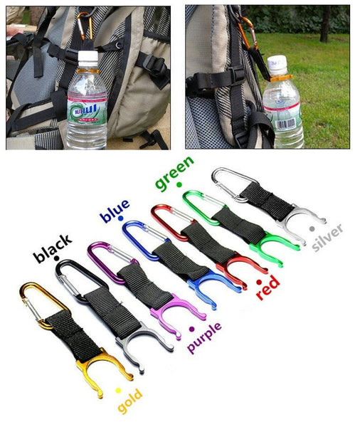 Camping Carabiner Water Bottle Buckle Hook Holder Clip For Camping Hiking survival Traveling tools