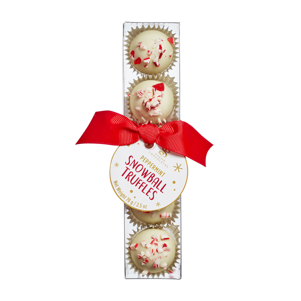 Peppermint Snowball Truffles Box - SOLD OUT