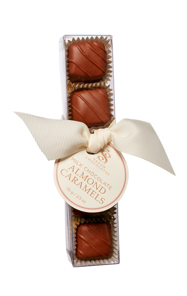 Milk Chocolate Almond Caramels Box - SOLD OUT