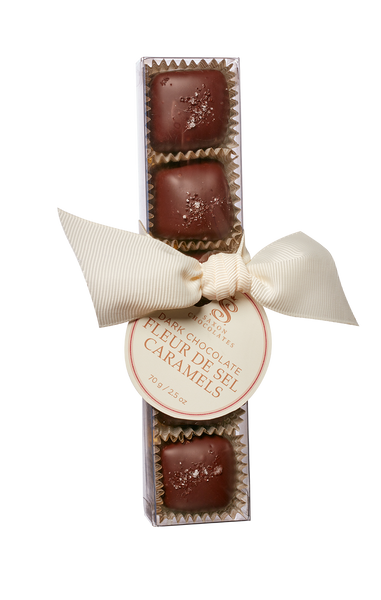 Dark Chocolate Fleur de Sel Caramels Box - SOLD OUT