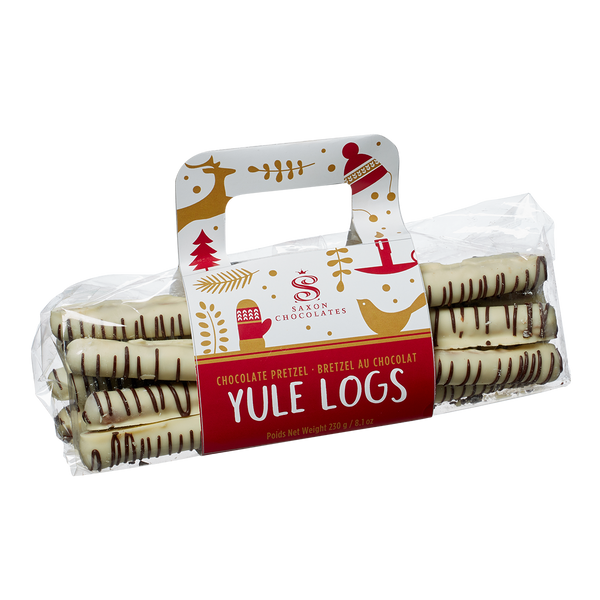 Chocolate Pretzel Yule Logs