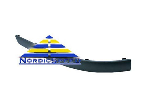 Decor Strip RH Passenger Side Front Bumper OEM SAAB-5142922-NordicSpeed