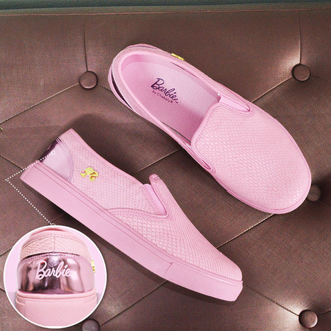 Zapatilla Barbie Chabely Rosado Pink Negro Beige
