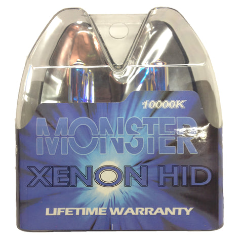 10000k Monster Blue Xenon Krypton HID Halogen Replacement Headlights & Fog Lights