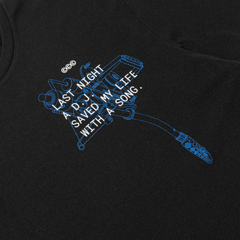 CRSVR DJ SAVED MY LIFE TEE
