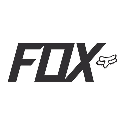 "Fox TDC Sticker Accessories Stickers Fox 7"" Black"