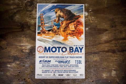 2018 SHNC Posters Accessories Novelty Roland Sands Moto Bay