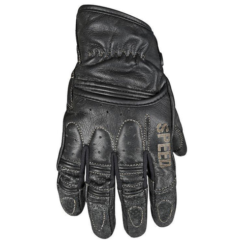 Rust and Redemption Leather Gloves Street Speed And Strength SM Black