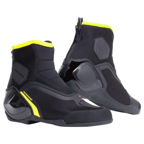 Dinamica D-WP Boots Street Dainese 40 Black/Fluo-Yellow