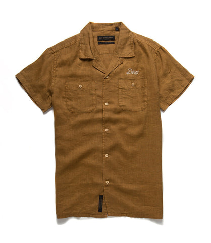 Dean Linen Short Sleeve Casual Mens Deus Ex Machina