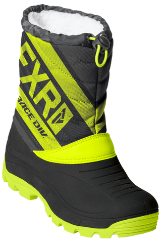 Youth Octane 19 Boots Snow FXR 25 Black/Hi-Vis