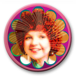 Psychedelic '60s Selfie Button