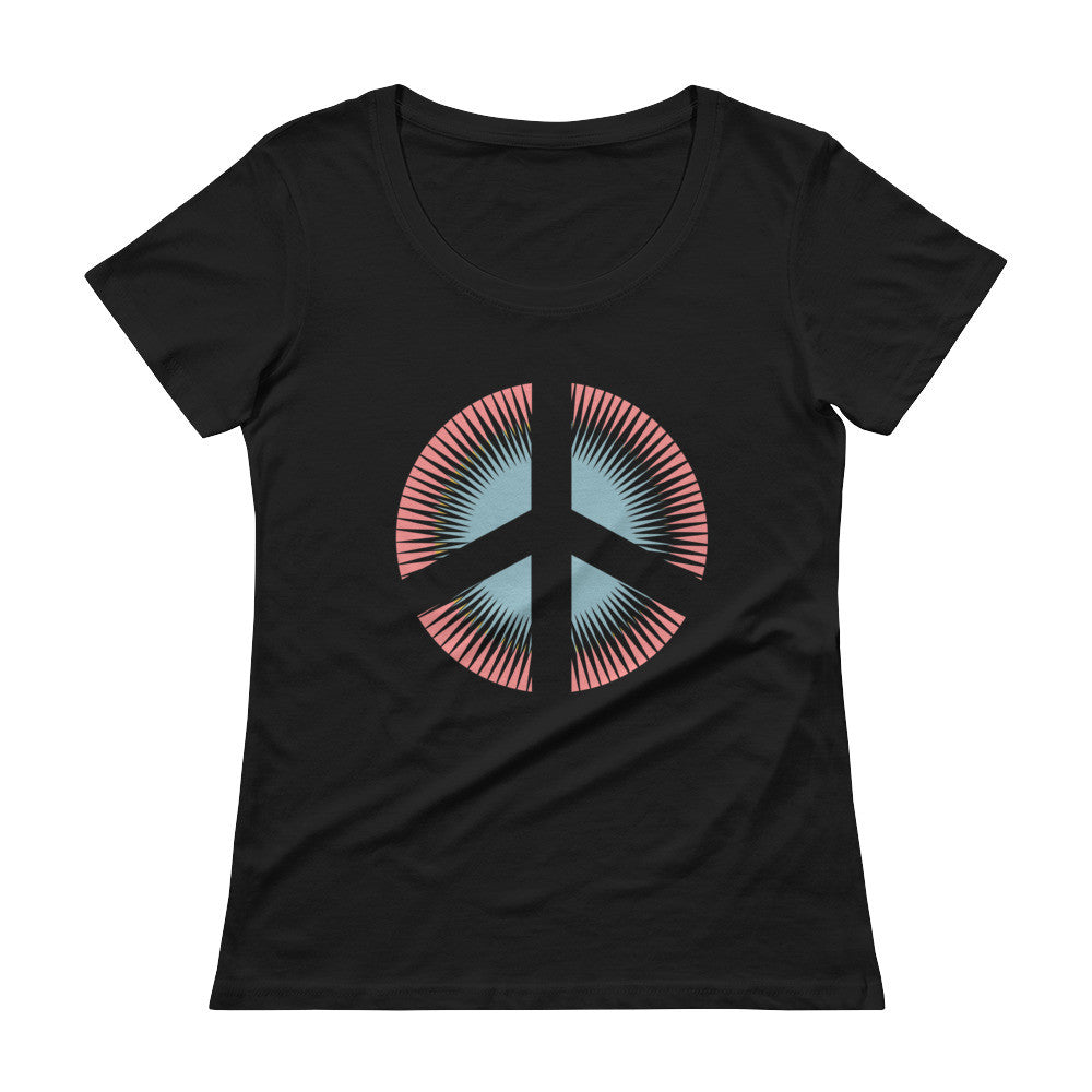 Peace Sign Ladies' Scoopneck T-Shirt