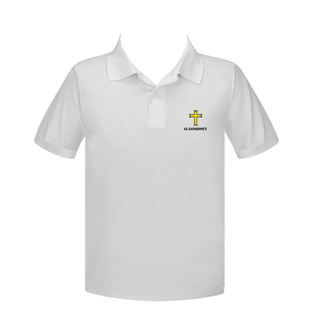 ST. CATHERINE'S GOLF SHIRT, UNISEX, SHORT SLEEVE, YOUTH