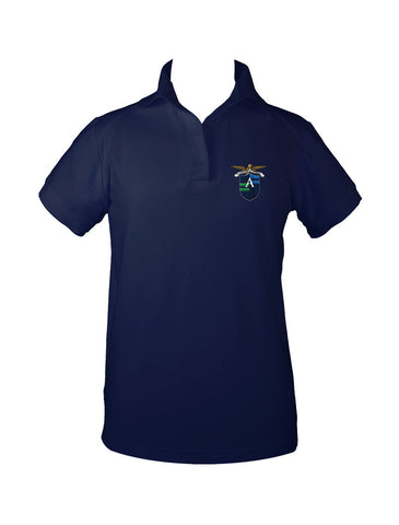 ALEXANDER ACADEMY GOLF SHIRT, GIRLS, SHORT SLEEVE, ADULT