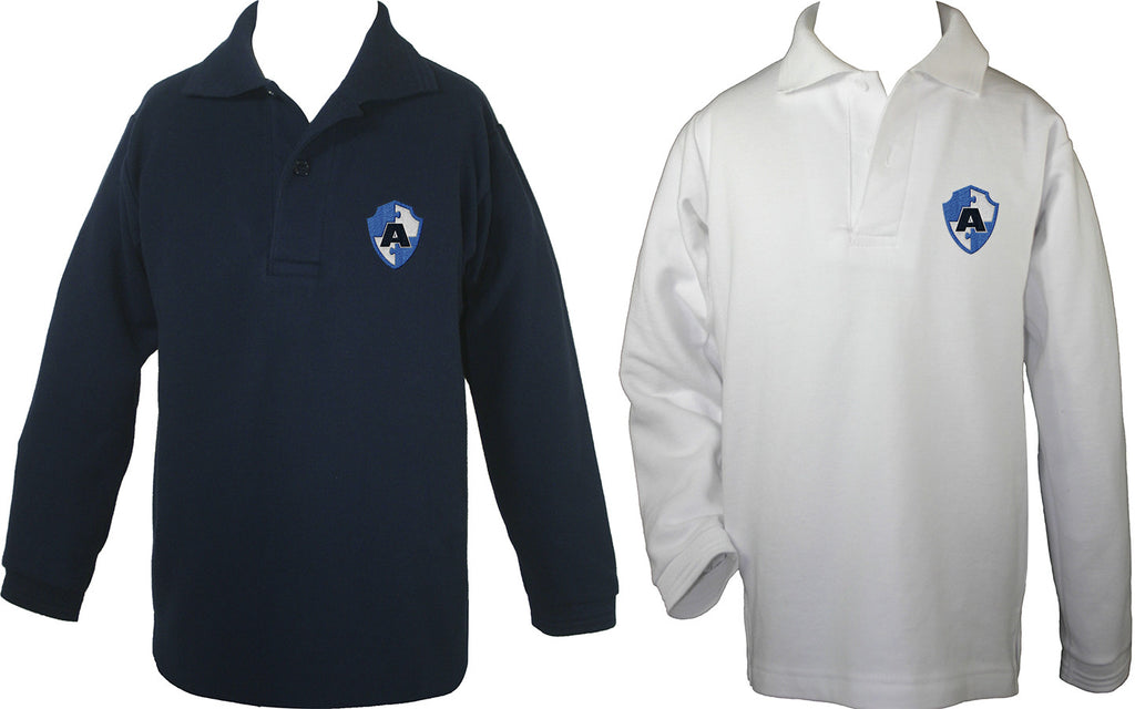ACADEMICS GOLF SHIRT, LONG SLEEVE, CHILD