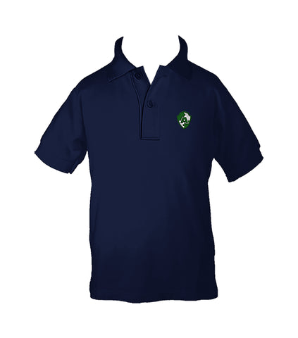 ACADEMICS NAVY GOLF SHIRT, UNISEX, SHORT SLEEVE, CHILD