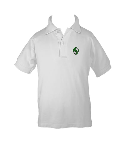 ACADEMICS WHITE GOLF SHIRT, UNISEX, SHORT SLEEVE, CHILD