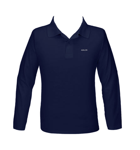 AVALON GOLF SHIRT, UNISEX, LONG SLEEVE, YOUTH