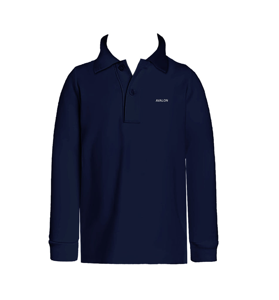 AVALON GOLF SHIRT, UNISEX, LONG SLEEVE, CHILD