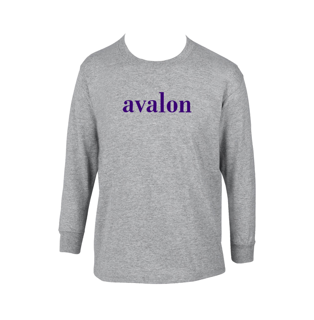 AVALON GYM T-SHIRT, LONG SLEEVE, COTTON, YOUTH