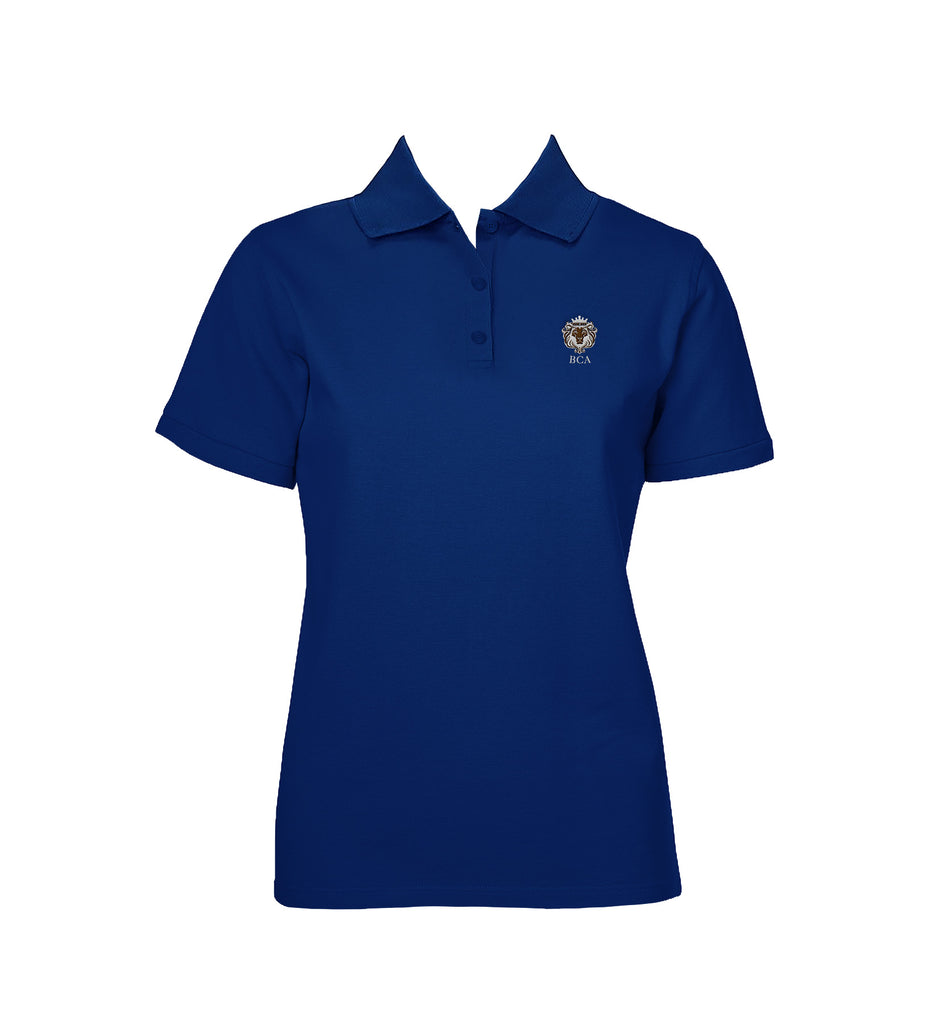 BIBLEWAY ROYAL BLUE GOLF SHIRT, GIRLS, SHORT SLEEVE, YOUTH
