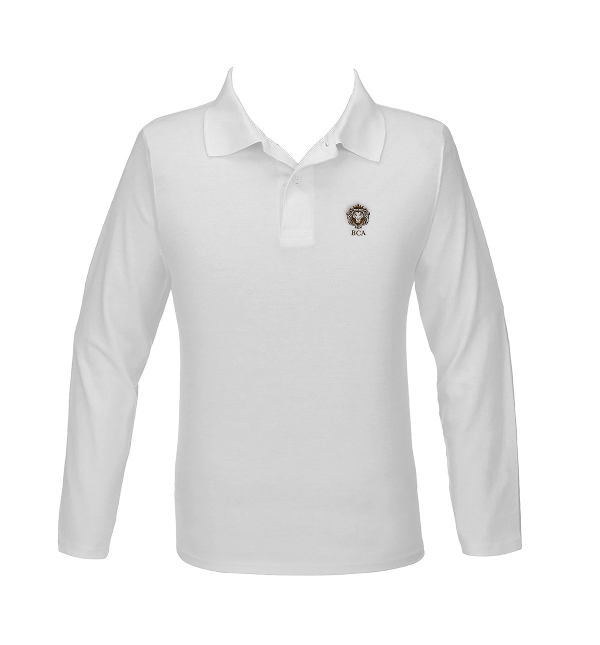 BIBLEWAY WHITE GOLF SHIRT, UNISEX, LONG SLEEVE, YOUTH