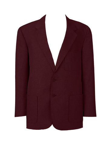 YOUTH WOOL BLAZER, BURGUNDY BUTTONS