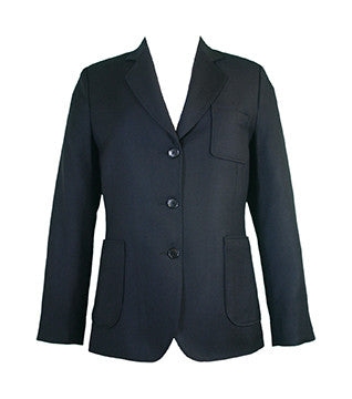 LADIES WOOL BLAZER, NAVY BUTTONS, REGULAR