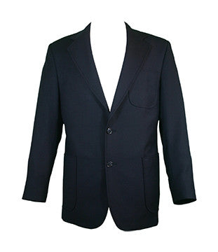 MENS WOOL BLAZER, NAVY BUTTONS, TALL