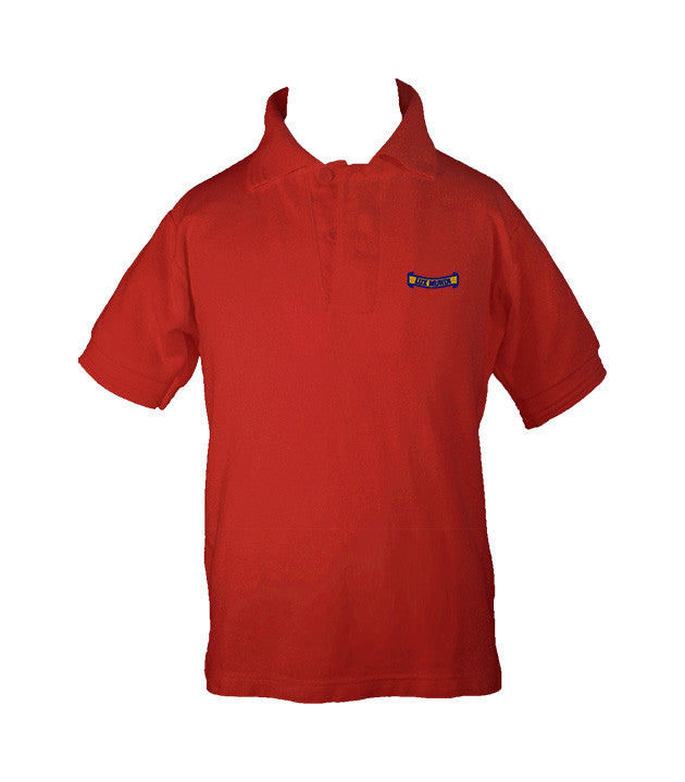 CATHEDRAL RED GOLF SHIRT, UNISEX, SHORT SLEEVE, CHILD