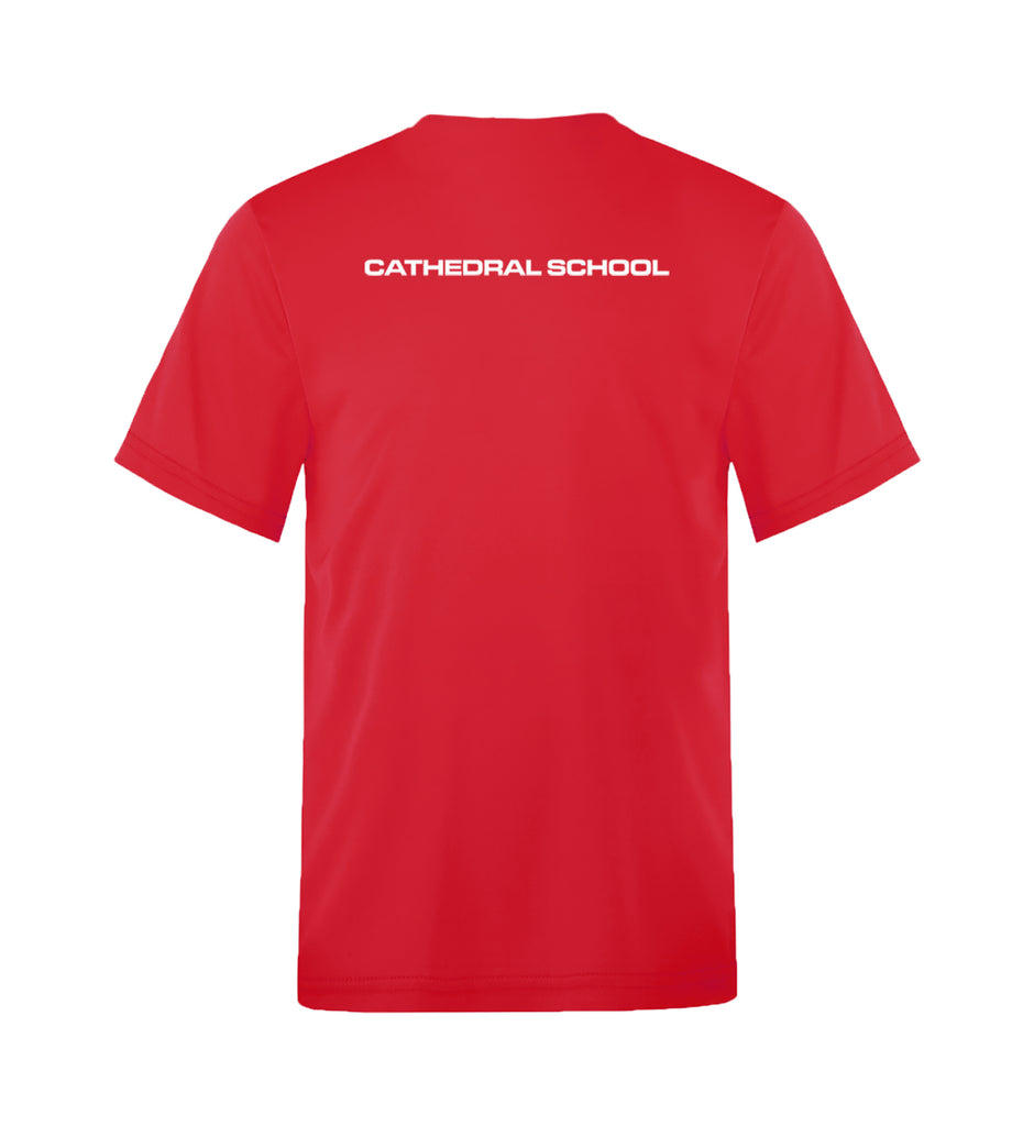 CATHEDRAL GYM T-SHIRT, WICKING, ADULT