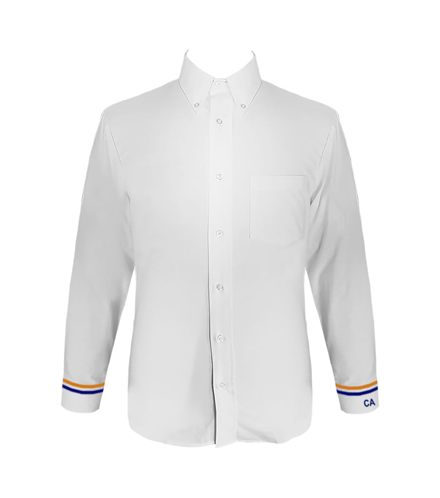 COLUMBIA DRESS SHIRT WITH EMBROIDERY ON LEFT CUFF AND BANDING, LONG SLEEVE, SLIM FIT, MENS
